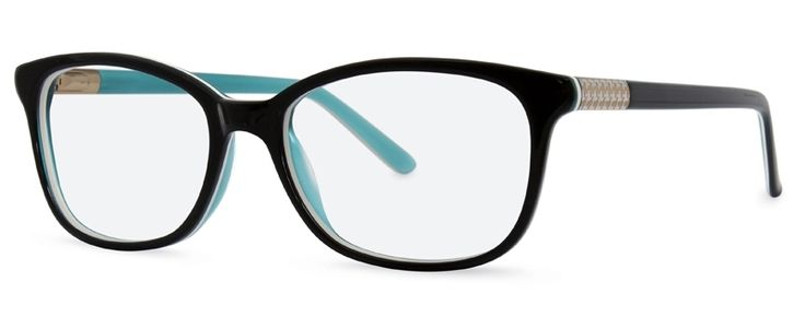 Cocoa Mint CM9000 C1 in shade-of-the-moment, teal, features intricate Houndstooth detail along the temple. Available from www.eyespace-eyewear.co.uk