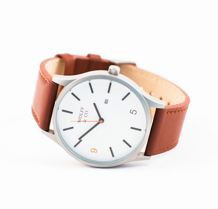 Wolff & Co. – This minimal timepiece designed in Melbourne, utilises a Japanese Miyota movement with calendar, has a 45mm stainless steel case, unique 9-5 design and genuine leather strap. wolffandco.com.au