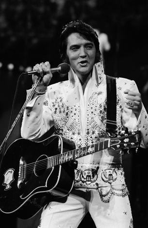 Elvis Presley performs in Honolulu, Hawaii.