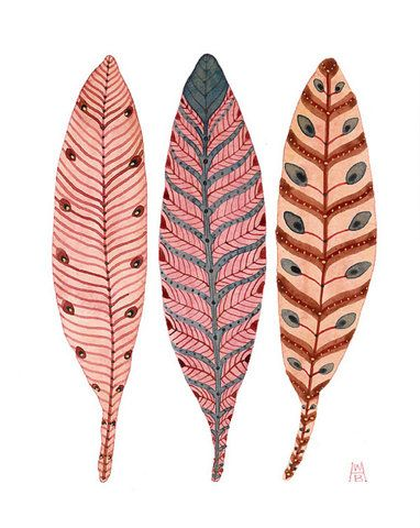 feather with patterns - illustrator?