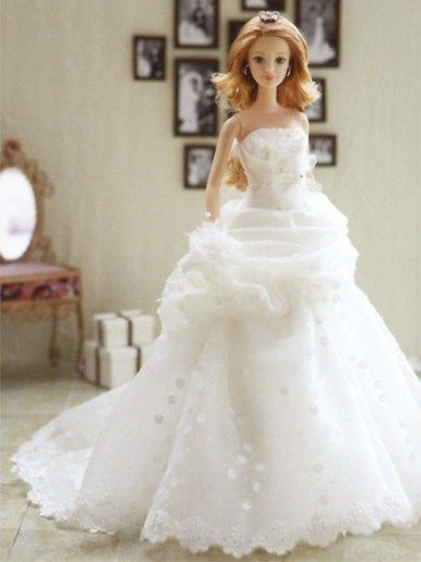 351 best barbie bridal gown sets images on pinterest for How to make a barbie wedding dress
