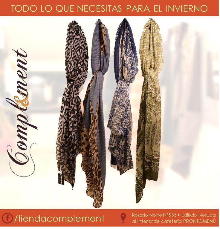 pañuelos para lo que queda de frio. visita nuestro fanpage https://www.facebook.com/tiendacomplement