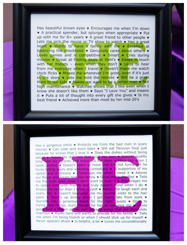 LOVE this!! The groom writes all the things he loves about the bride, and she write all the things she loves about him! Perfect for the guest book table!Guest Book Tables, Guest Books, Brides Writing, Anniversaries Gift, Cute Ideas, Gift Groom, Guestbook, Grooms Writing, The Brides