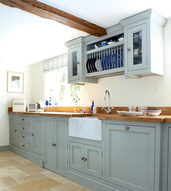 Traditional cottage kitchen | Period Living... Love the colour of the units