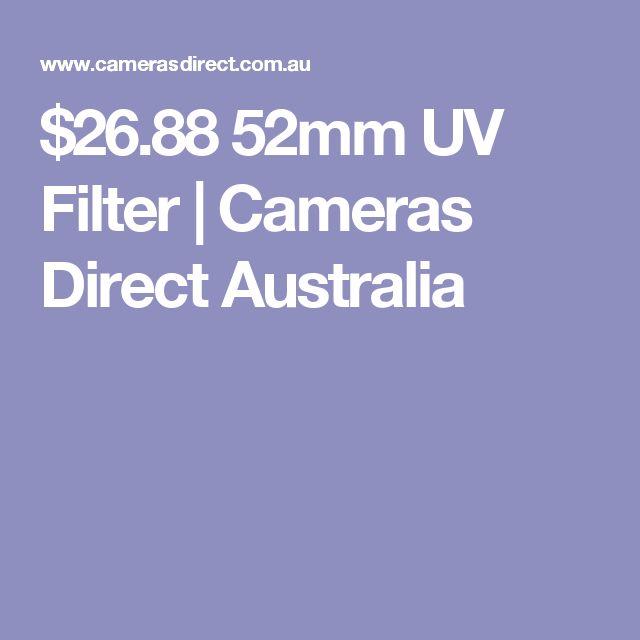 $26.88 52mm UV Filter | Cameras Direct Australia