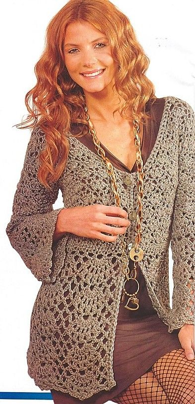 Pretty Crochet Cardigan: diagrams