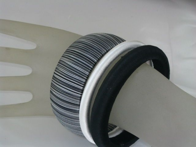 Hand wrapped silk thread big bangle set by Thonghattha design