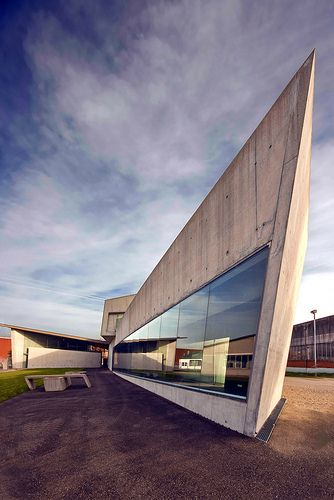 Vitra Fire Station designed by Zaha Hadid. Weil am Rhein