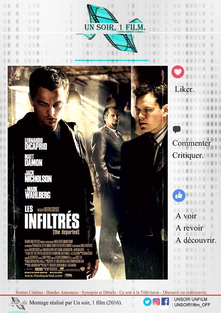 Bande annonce vidéo:  https://youtu.be/iX1o64zUzKk  Titre : Les infiltrés. #lesinfiltres Durée : 02hr30. Type : Policier / Drame / Thriller Sortie : 29 Novembre 2006.  Réalisateur / Acteurs : Martin Scorsese / Leonardo DiCaprio, Matt Damon, Jack Nicholson #MartinScorsese #LeonardoDiCaprio, #MattDamon, #JackNicholson  Histoire :  Avertissement : des scènes, des propos ou des images peuvent heurter la sensibilité des spectateurs A Boston, une lutte sans merci oppose la police à la pègre…