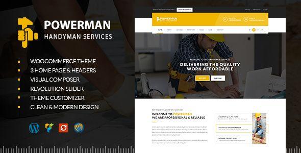 POWERMAN - Handyman Services WordPress