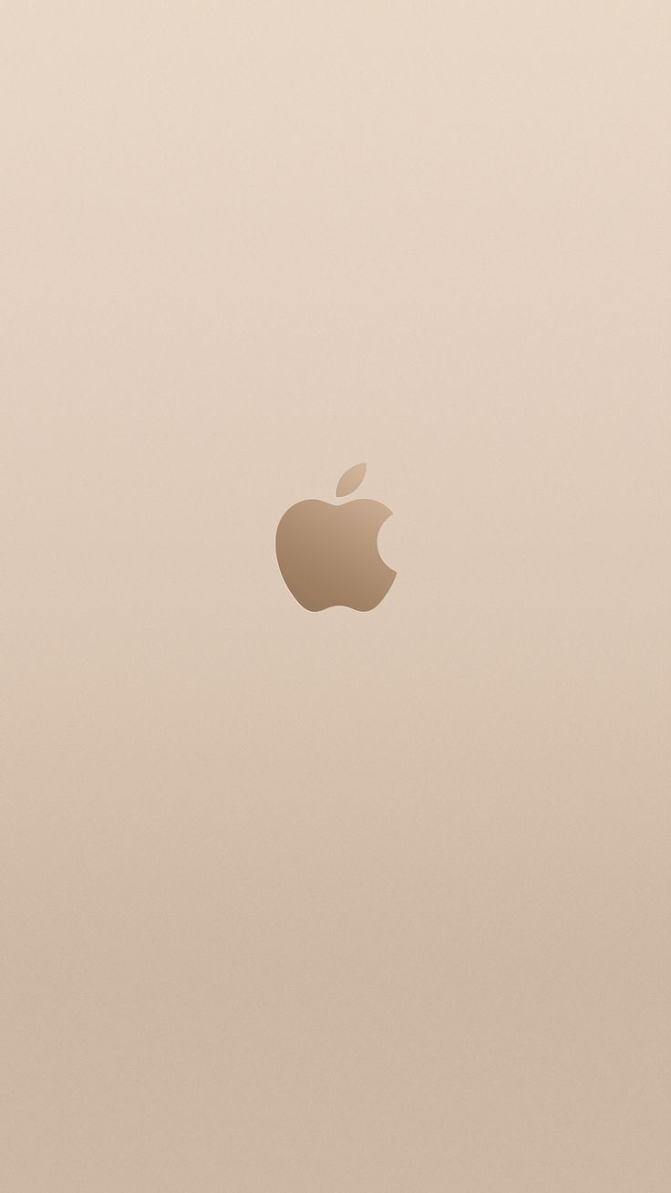 Champagne gold Apple logo