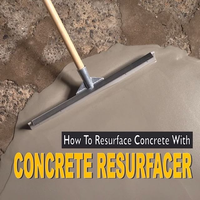 How to Resurface #Concrete with #QUIKRETE Concrete Resurfacer. #DIY…