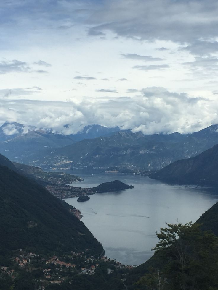 Lake como and Argegno photografed from S.Zeno