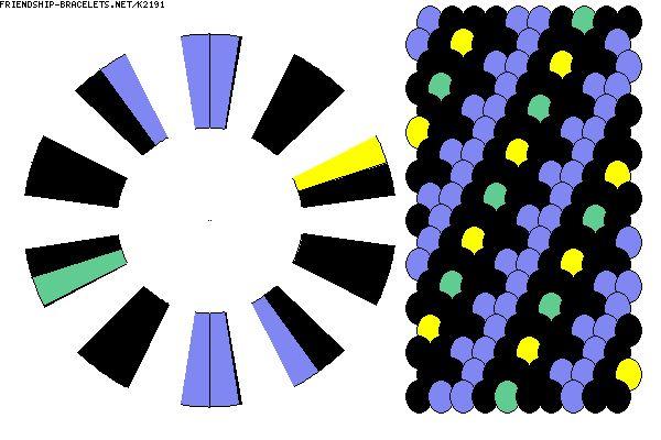 20 strigs 4 colours  -  K2191 - friendship-bracelets.net