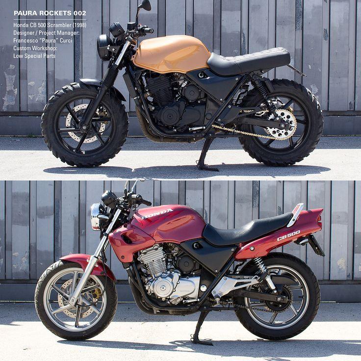HONDA CB500 – Before and After – Scrambler, Cafe Racer – Honda – #Cafe # CB500 #Honda #Nachher #Racer
