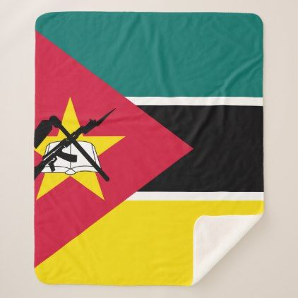 #Mozambique Flag Sherpa Blanket - cyo customize design idea do it yourself