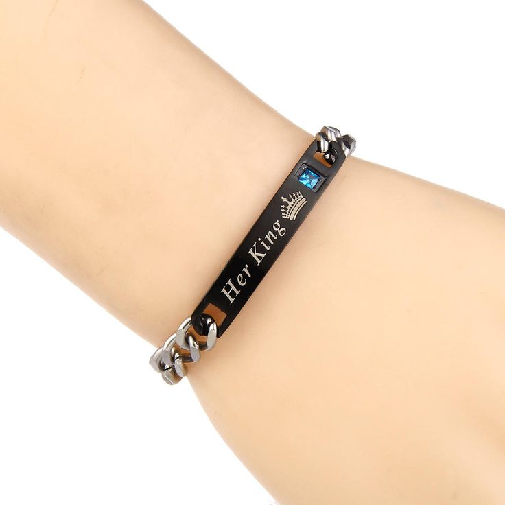 Titanium Steel Couple Love Chain Valentine's Day Bracelet Gift for Men Women at Banggood