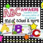 $2.60 The ABCs of a terrific school year!  Do you do an end of the year party where you recognize each student with an award?  If so, then these end of ...