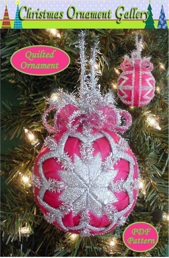 Quilted Christmas Ornaments.Quilted Christmas Ornament Tutorial Pattern Pdf Holidays