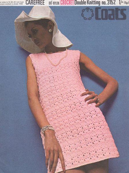 ladies dress | vintage crochet pattern