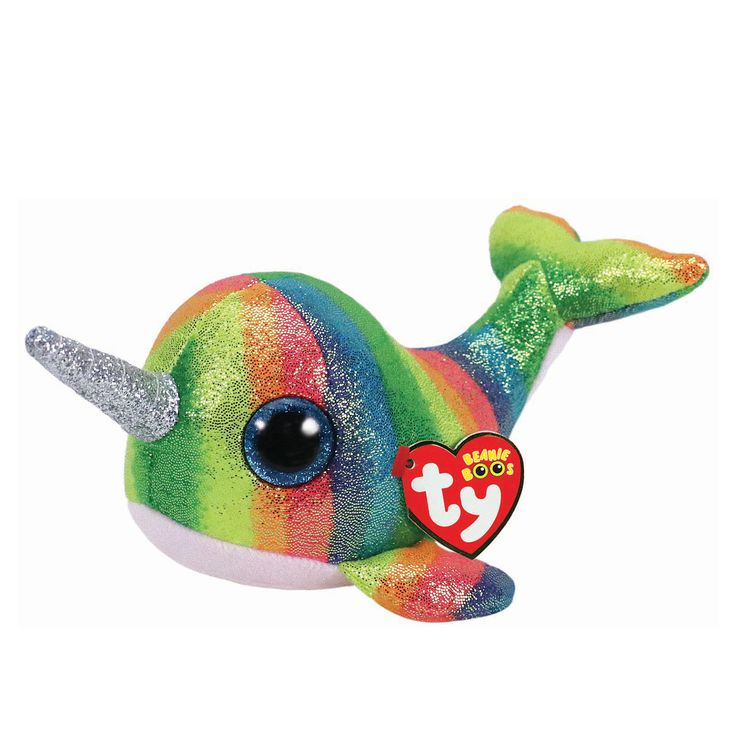 Ty Beanie Boo Small Nori the Narwhal Soft Toy Claire's