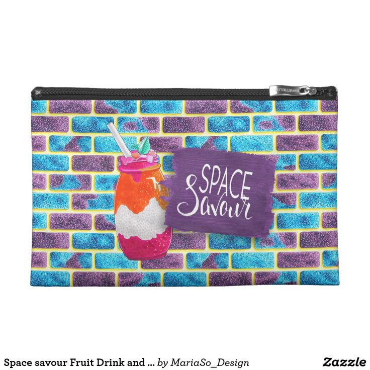 Space savour Fruit Drink and Unique cosmos bricks Travel Accessory Bag