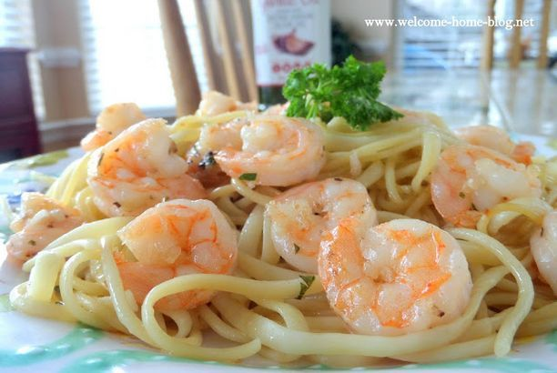 Easy Shrimp Scampi with Pasta