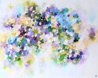Arte - Pittura-Acrilico pittura-acrilico astratto pittura-viola-moderna astratta…