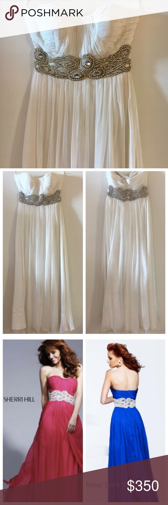 The dress is white - Nwt Sherri Hill White Gown Wedding Dress Prom