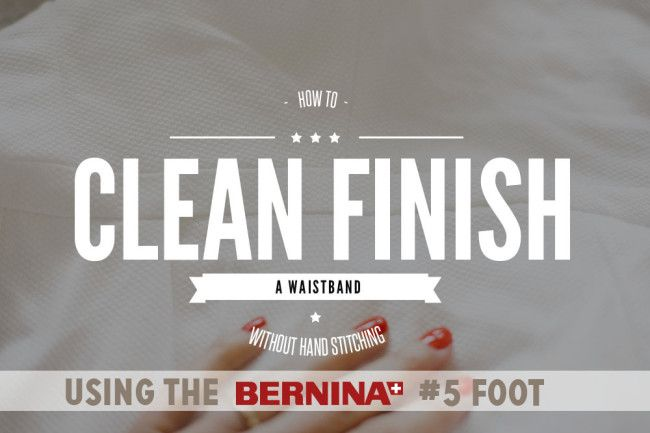 How to clean finish a waistband without hand stitching  |  Coletterie. http://www.coletterie.com/tutorials-tips-tricks/how-to-clean-finish-a-waistband-without-hand-stitching
