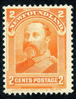 """Newfoundland  1897 Scott 81 2c orange """"Edward VII as Prince of Wales"""""""