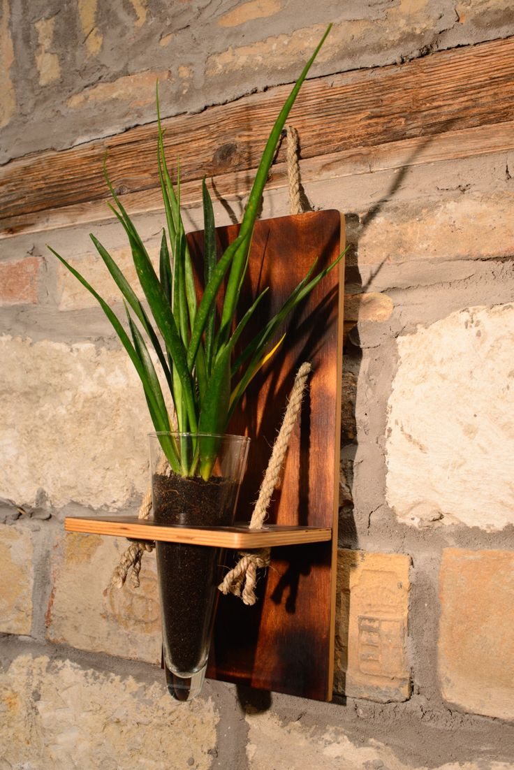Wall decor vase by HolzDinge on Etsy