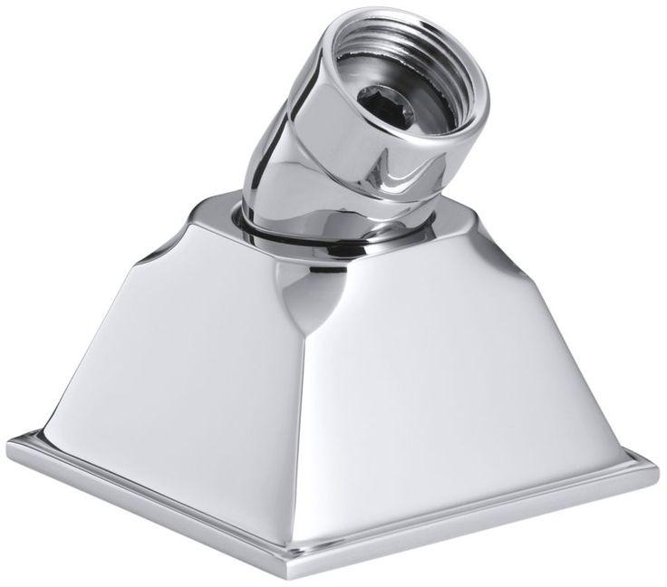 Kohler K-424 Memoirs Deck Mount Hand Shower Holder with Hoses Polished Chrome Shower Accessories Hand Shower Holders