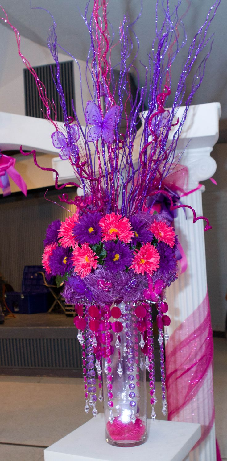 175 best XV/sweet 16 centerpiece images on Pinterest ...
