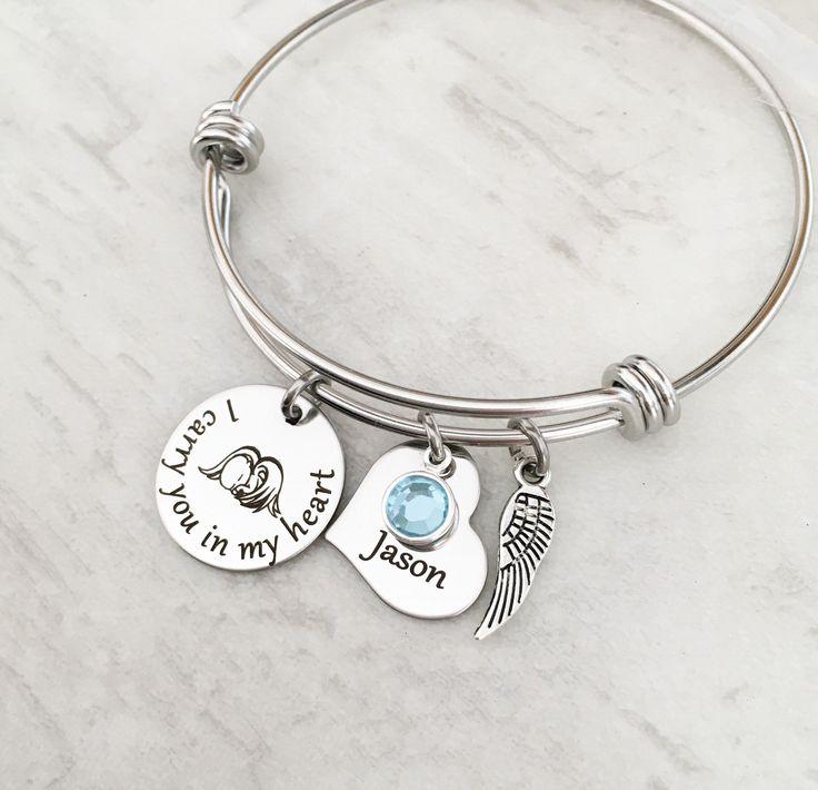 Sympathy Gift Birthstone Loss of Loved One Memorial Bracelet