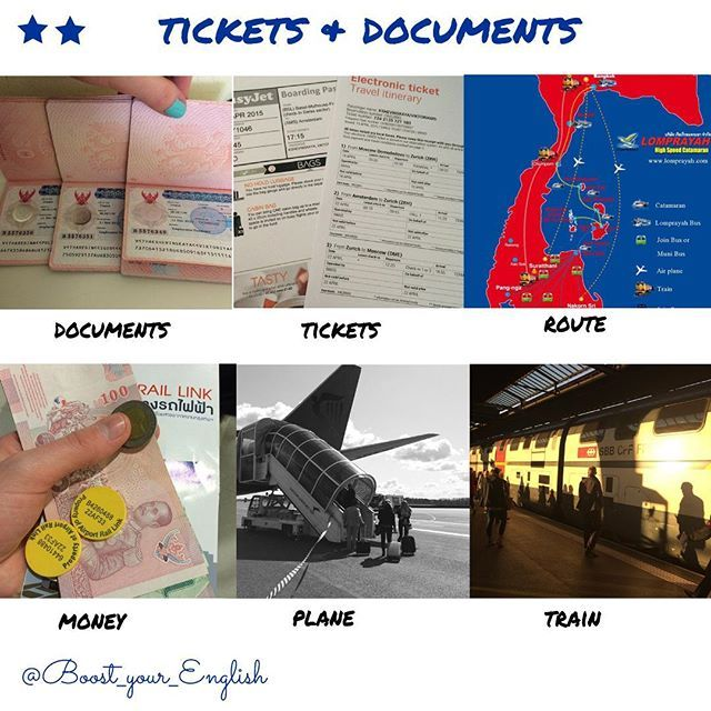 ✅ TICKETS & DOCUMENTS How do you purchase tickets? What means of transport do you like? Who plans a route in your family? Do you organise all your papers yourself or you hire an agency? IS IT A STRESS????????? #boost_travel #boost_communication