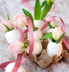 DIY Your Own Easter Decorations With Egg Shells in 2016.
