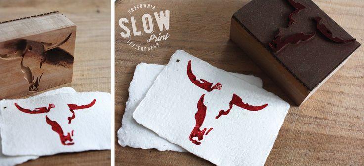 wood stamps | bull skull