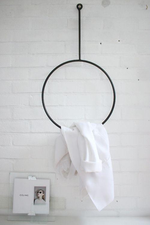 round clothing rack + improvised picture frame  (rack> http://annaleena.se/shop )