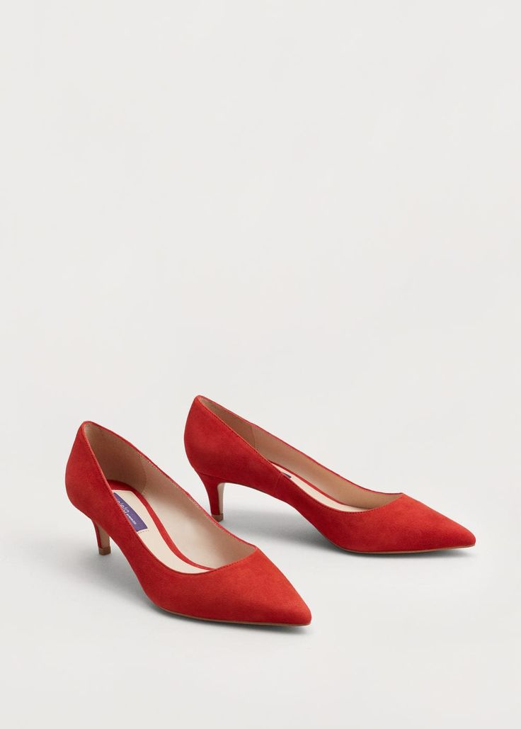 Замшевые туфли-лодочки - Обувь - Женская   MANGO МАНГО Россия (Российская Федерация)