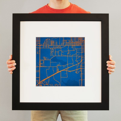University of Florida...City Prints Map Art. Could make a fun gift or would look great in my office next to the swamp stadium picture!