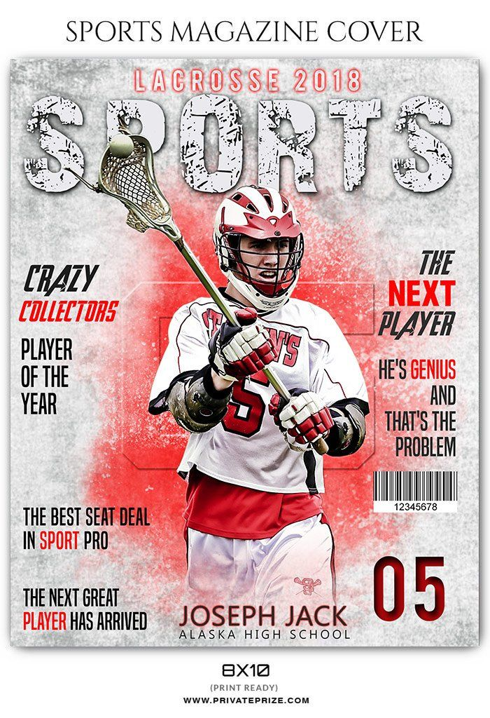 Lacrosse Sports Photography Magazine Cover
