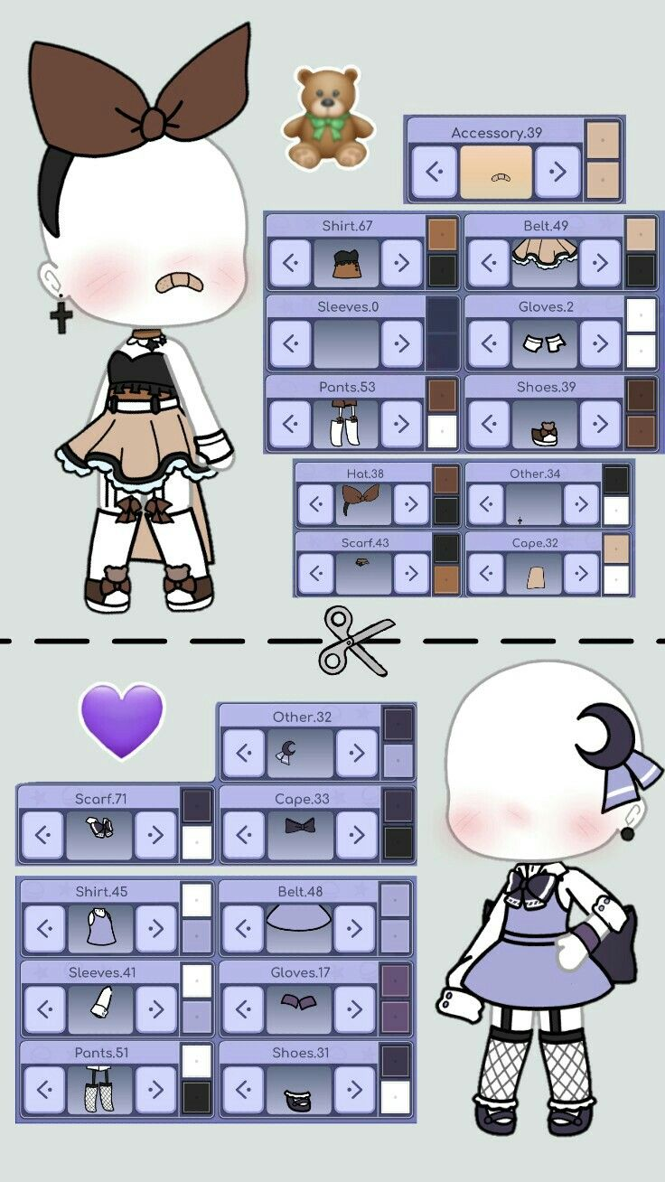 Gacha Outfits Cute : gacha, outfits, Gacha, Outfit, Ideas, Outfits,, Character, Design