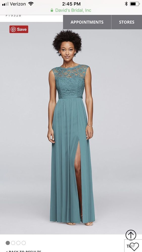 3ef6d6eb0e7d Davids Bridal Teal Blue Bridesmaid Dress F19328 Worn Once #fashion  #clothing #shoes #accessories #weddingformaloccasion #bridesmaiddresses ( ebay link)