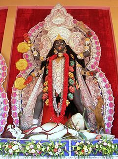"Famous Kali Puja of Fatakeshto at Central Kolkata, 2010. Source: Wikipedia, ""Kali Puja""."
