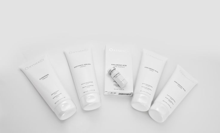 Hyaluronic acid treatment.  You have to use: 1srt. Cleansing cream 2nd. Peeling cream 3rd. Hyaluronic acid pure essence 4th. Hyaluronic acid cream 5th. Hyaluronic acid mask For do this treatment you would have to use the device Oxynergy Excellence.