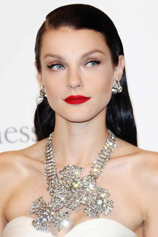 Bling and a red lip.