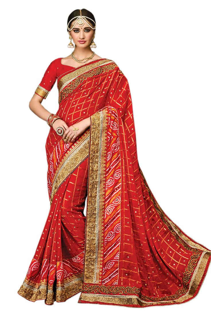 Make an enthralling appearance on any festive occasion or function by draping into this Red Pure Chiffon Checks with Heavy Kolkatta Border Designer Wedding-Bridal Saree.  Buy Now :- https://goo.gl/G9DEJB  Cash On Delivery & Free Shipping only in India. For Other Query Just Whatsapp Us on +91-9512150402