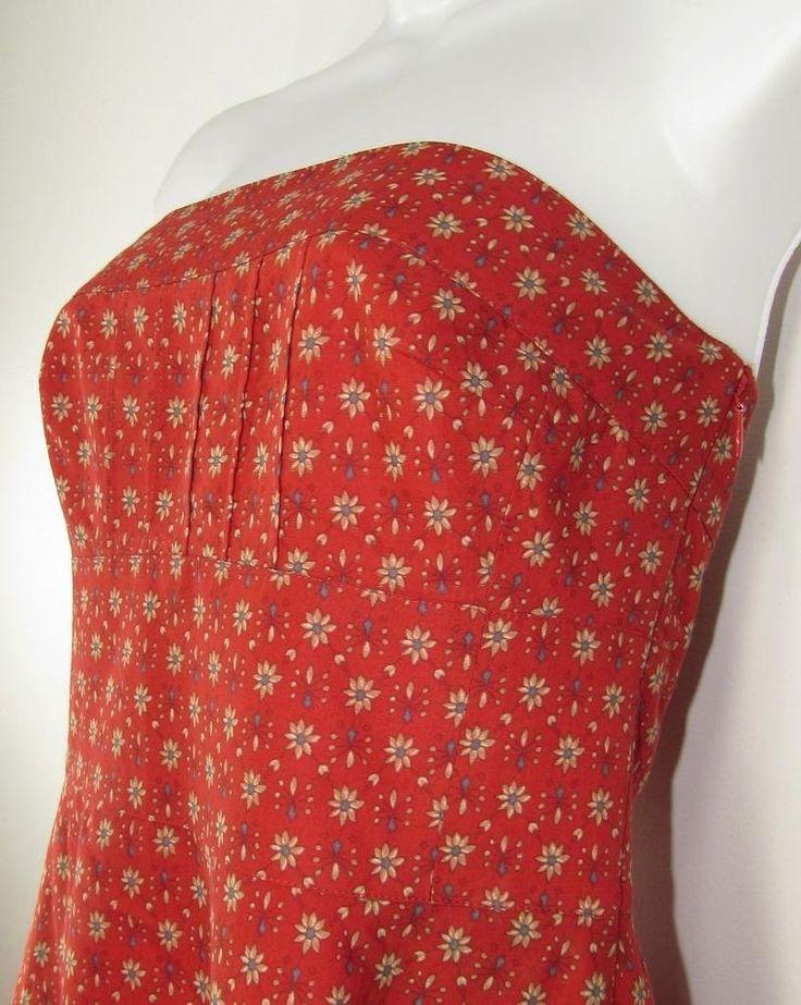 Banana Republic Strapless Sundress Silk Blend Floral Print Lined sz 2P NWT NEW #BananaRepublic #Sundress #Casual