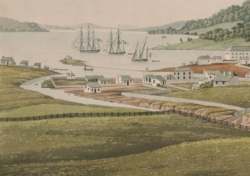 1819-SLNSW-South-west-view-of-Hobart-Town-1819-George-William-Evans-DG-V6-1-a1528621-detail